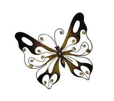 I absolutely love metal butterfly wall art. It is great for gardens, patios and even  indoors in bathrooms, kitchens and hallways.  Additionally, you can use butterfly home wall art décor in your  bedroom. Overall this is beautiful,  color and ever so cute #butterflies #wallart #homedecor      Metal Butterfly Wall Decor - Warm Brown Wall Art with Glass Pearls Product SKU: HD229089