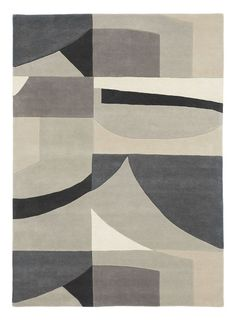 Harlequin Bodega Stone 040504 Rug by Harlequin at Rugs.ie - Contemporary Geometric & Floral Rugs. Stone Rug, Painted Rug, Geometric Rug, India, Floral Rug, Fabric Wallpaper, Wool Rug, Lana, Area Rugs