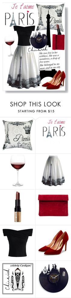 """""""Chicwish in Paris"""" by srebrnisnijeg ❤ liked on Polyvore featuring Park B. Smith, Nordstrom, Chicwish, Bobbi Brown Cosmetics, Post-It, Rupert Sanderson and vintage"""