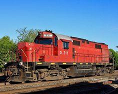 Delaware Lackawanna Railroad, ALCO RS-32 diesel Locomotive in Scranton, Pennsylvania, USA