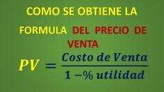 Como se calcula la formula del Precio de Venta