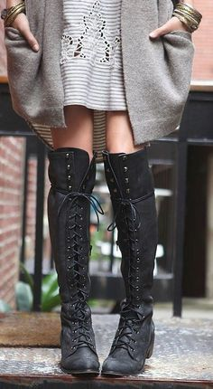 Lace up boots. I may have just died. *piches self* NOPE. These boots..... ughhhhhh