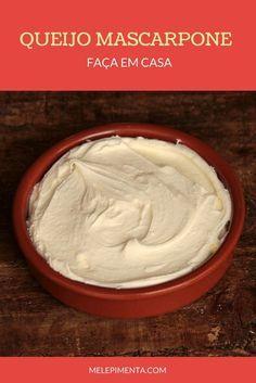 Queijo Mascarpone - Faça o queijo mascarpone caseiro, com essa receita fácil e econômica. O queijo cremoso é perfeito para preparar tiramiussu, molhos e outros pratos.
