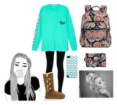 """""""Mid terms.."""" by savannahh-rae ❤ liked on Polyvore featuring NIKE, Victoria's Secret, UGG Australia and Vera Bradley"""