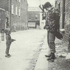 Republican soldier takes on the British army- Belfast