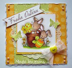 Kunis Bastelblog: ein Osterkärtchen