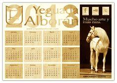 Calendario 2013 de Yeguada Alborán. Caballos Pura Raza Española.