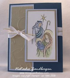 Stamps – Holy Triptych - I love the pastel coloring.