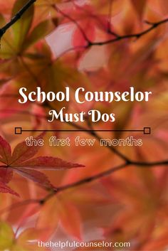 School Counselor Must Dos for the New School Year
