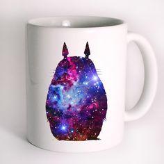 Totoro Beautiful Place Galaxy Mug Design
