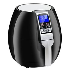Amazon.com: Super Deal 1500W Electric Air Fryer W/Temperature Control, Timer, 8 Cooking Presets 3.7-Qt W/Digital Display (Black): Kitchen & Dining