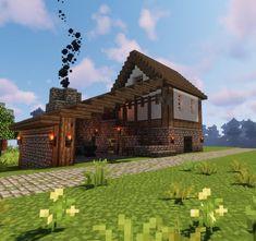 Minecraft Medieval Village, Minecraft Cottage, Easy Minecraft Houses, Minecraft Modern, Minecraft Castle, Minecraft Houses Blueprints, Amazing Minecraft, Minecraft Crafts, Minecraft Stuff