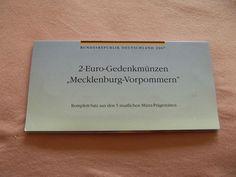 2 Euro Gedenkmünzen Set 2007 Mecklenburg-Vorpommern alle Prägungen im Blister