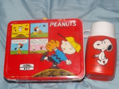 1965 peanuts lunchbox with thermos