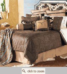 Caldwell Cowhide Bed Set King