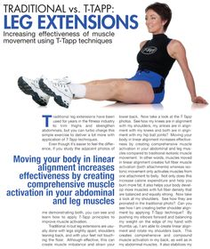Traditional vs. T-Tapp: Leg Extensions. Click through pin for exercises!