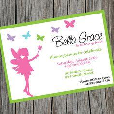 fairy princess birthday invitations   fairy princess birthday invitation simple fairy invite printable ...