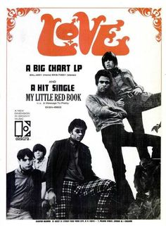 Love 'My Little Red Book', single ad by Elektra Records USA, Rock Posters, Band Posters, Concert Posters, Billboard Magazine, 60s Music, Thing 1, Love Band, Pop Rock Bands, Red Books