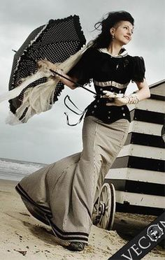Particularly love the mermaid skirt with the black stripes along the bottom.