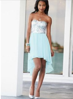 sequin hi-lo dress