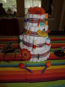 Mexican theme baby shower diaper cake maras baby shower fiesta theme diaper cake created by lauren httppinterest publicscrutiny Image collections