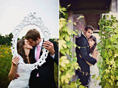 Love the picture frame idea for #wedding photobooth pics.
