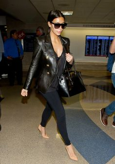 Kim Kardashian returned to LA