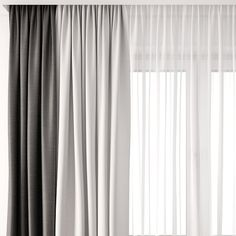 curtain 3D model Wave Curtains, Fabric Blinds, Curtain Fabric, Bedroom Drapes, Master Bedroom Interior, Bedroom Decor, Home Room Design, Interior Design Living Room, Outdoor Drapes