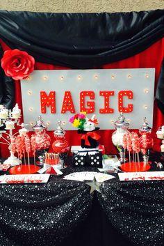 Irene R's Birthday / - Girl Magic Party at Catch My Party Birthday Party Desserts, 6th Birthday Parties, Girl Birthday, Birthday Decorations, Magician Party, Magic Theme, Magic Birthday, Cupcakes, Pack Meeting