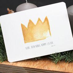 """Postkarte """"König"""""""