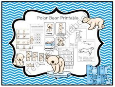 Polar Bear Printable from Preschool Printables on TeachersNotebook.com -  (30 pages)  - Printable: The activities in this pack are designed to have fun while the child learns a variety of preschool concepts including number, color, patterns, sequence, size, letters and more.