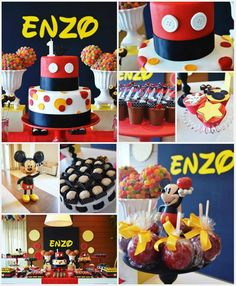 Mickey Mouse 1st Birthday Party via Kara's Party Ideas