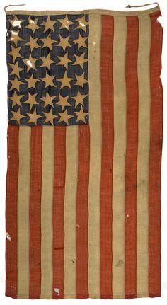 Antique American flags