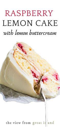 Just Desserts, Delicious Desserts, Yummy Food, Tasty, Light Desserts, Raspberry Lemon Cakes, Strawberry Cakes, Bolo Cake, Slow Cooker Desserts