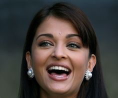 Aish is famous on every continent (probably even Antarctica). She's a Bollywood superstar wearing Bindis.