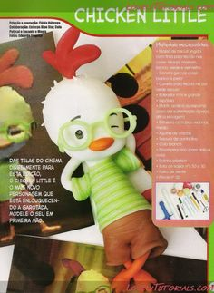 Chicken Little, cute step by step tutorial in Spanish