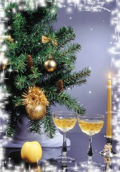 Merry Christmas & Happy New Year ! 3d Christmas, Merry Christmas And Happy New Year, Christmas Pictures, Happy Holidays, An Nou Fericit, Gifs, Table Decorations, Home Decor, Google