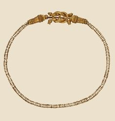 Macedonian Gold Necklace w/Lion Protome Clasp, Sedes late 4thc B.C. Louvre