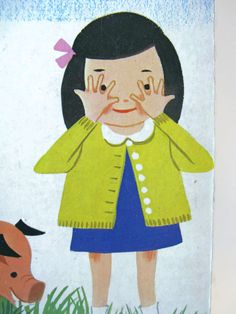 vintage children's board book / Somebody Hides / by mudintheUSA