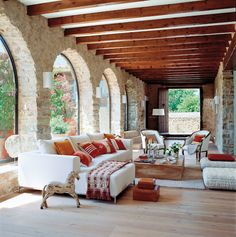 Hacienda Style Homes, Spanish Style Homes, Spanish House, Spanish Home Decor, Spanish Interior, Italian Interior Design, Salon Interior Design, Interior And Exterior, Mediterranean Home Decor