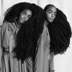 - Tk Wonder (@tk_wonder) & twin @cipriana Featured in a 10 page spread for @ellebrasil | Photographer: @willvendramini Interviewer: @luaracalvianic Stylist: @julianagimenezstylist MUA: @maki_h Art Director: @luciano_schmitz || long afro hair. Long kinky hair. Long 4c hair. Long natural hair. Afro hair. Kinky hair. Natural hair. 4c hair. 4c natural. 4c texture. Super long hair. Black girls with long hair. Classic length Afro hair. Black girls with super long hair. Thigh length Afro hair.