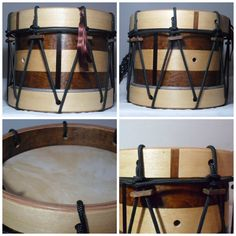 Tambor infantil  Imbúia e Marfim  www.ateliegiramundo.com Drums, Music Instruments, Ivory, Drum, Musical Instruments, Drum Kit