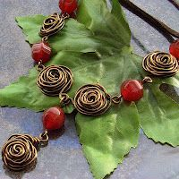 How to make Wire roses  - Blue Forest Jewellery - #Wire #Jewelry #Tutorial