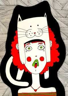 Girls, cats and other cool stuff on Behance