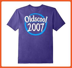 Mens Oldscool Legends Born In 2007 Funny Gift For 10 Years Old XL Purple - Funny shirts (*Partner-Link)
