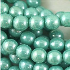 Czech 6mm Pressed Glass Druk beads Luster by SuppliedByLightness, $2.48 Pressed Glass, Green Turquoise, Jewelry Making Supplies, Luster, My Etsy Shop, Beads, Crafts, Beading, Bead