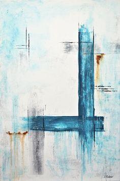 Abstrakte Malerei-24 x 36 original moderne Kunst von RawArtGallery