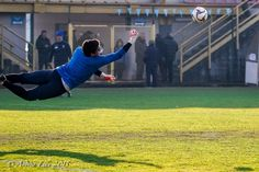 Goalkeeper flying