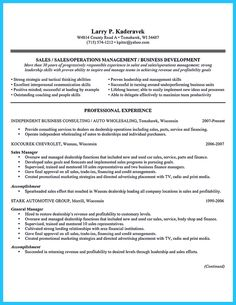 Sales Job Resume Awesome Special Car Sales Resume To Get The Most Special Job