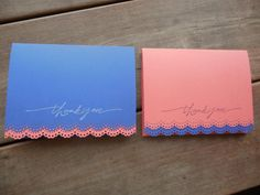 Navy and Coral Lace Edge Thank You Cards-Nautical Wedding Thank You Cards by Lemon Drops & Lilacs on etsy.com
